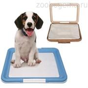 Туалет P587 для собак (сетка в комплекте), 400*400*155мм