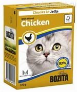 BOZITA Feline Extra Chicken - кусочки в желе с КУРИЦЕЙ, 370 гр