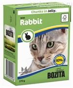 BOZITA Feline Rabbit - кусочки в желе с КРОЛИКОМ, 370 гр