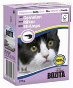 BOZITA Feline Schrimps - кусочки в соусе с КРЕВЕТКАМИ, 370 гр