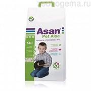 Наполнитель для мелких грызунов с экстрактом алоэ вера Асан Asan Pet Aloe 14L