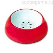 КерамикАрт миска керамическая для грызунов Яблоко 10 мл красная