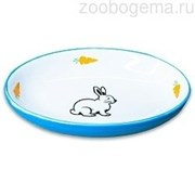 КерамикАрт миска для грызунов Зайчик 90 мл голубая