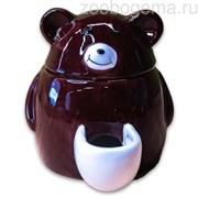 КерамикАрт кормушка  для грызунов Мишка 150 мл черная
