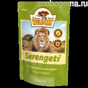 Wildcat Pouch Serengeti (5 сортов мяса и картофель) 100г senior