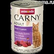 Animonda CARNY Adult с говядиной и ягненком д/кошек 400гр