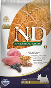 N&D ANCESTRAL GRAIN DOG LAMB, SPELT, OATS AND BLUEBERRY ADULT MINI 2.5KG