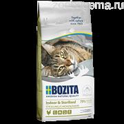 BOZITA Feline Funktion Indoor & Sterilised, сухое питание для взрослых и пожилых кошек, ведущих домашний образ жизни, кастрированных котов и стерилизованных кошек, 2кг