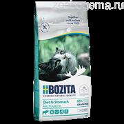 BOZITA Feline Funktion Sensitive Diet & Stomach, сухое питание для взрослых и молодых кошек, с чувствительным пищеварением, для кошек с избыточным весом и низким уровнем активности, 2кг