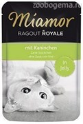 MIAMOR RAGOUT  mit Kaninchen Кролик кусочки в желе  Пауч Влажный корм для кошек 100 гр