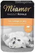 MIAMOR RAGOUT Kitten mit Geflugel kitten с Птицей  кусочки в желе Пауч влажный корм для котят 100 гр