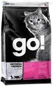 Для Котят и Кошек с Цельной Курицей, фруктами и овощами (GO! SKIN + COAT Chicken Recipe for Cats 32/20) 1,4кг