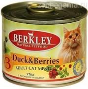 Консервы BERKLEY Утка с лесными ягодами для взрослых кошек №3