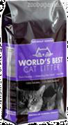World's Best комкующийся 3,18 кг (кукурузный) ароматизированный наполнитель для кошачьих туалетов, мультиформула (лаванда) WBCL Multiple Cat Clumping Formula