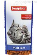 Beaphar Malt-Bits подушечки  д/кошек с мальт-пастой 35г. 75шт