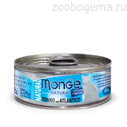 Monge Cat Natural консервы для кошек атлантический тунец 80 гр