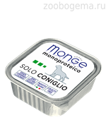 Monge Dog Monoprotein Solo консервы для собак паштет из кролика 150г
