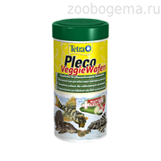 TetraPleco Veggie Wafers корм-пластинки с добавлением цуккини для донных рыб  15 г
