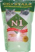 N1 Crystals наполнитель для кошачьего туалета силикагель антибактериальный