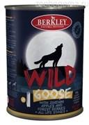 Консервы BERKLEY Гусь с цукини яблоками и лесными ягодами для собак всех возрастов №1, конс. 400 гр.