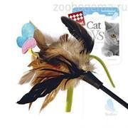 Игрушка для кошки Дразнилка с бабочкой Размер: 51 см.