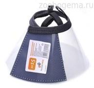Воротник защитный пластиковый на липучке, 15см  (10шт/уп)