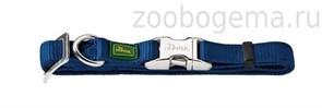 Hunter ошейник для собак ALU-Strong M (40-55 см) нейлон с металлической застежкой темно-синий