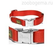 Hunter ошейник для собак ALU-Strong S (30-45 см) нейлон с металлической застежкой оранжевый