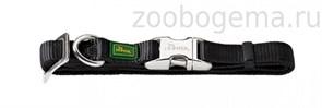 Hunter ошейник для собак ALU-Strong S (30-45 см) нейлон с металлической застежкой черный