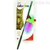 Игрушка д/кошек - Дразнилка с перьями, блестящая Wanderfuls