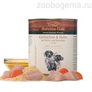 Hubertus Gold® кролик с курицей и морковью 800 гр. 1/6