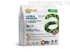 Аллева Холистик для взрослых кошек с ягненком и олениной, коноплей и женьшенем 0,4 кг/ALLEVA HOLISTIC CAT ADULT LAMB & VENISON 0,4 KG