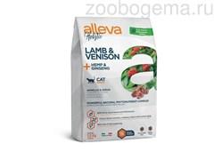 Аллева Холистик для взрослых кошек с ягненком и олениной, коноплей и женьшенем 1,5 кг/ALLEVA HOLISTIC CAT ADULT LAMB & VENISON 1,5 KG