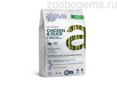 Аллева Холистик для кастрированных котов и стерилизованных кошек с курицей и уткой, волокнами сахарного тростника и женьшенем 1,5кг/ALLEVA HOLISTIC CAT NEUTERED 1,5 KG