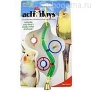 JW31034 Веточка с зеркальцами, бусинками и колокольчиком, игрушка для птиц
