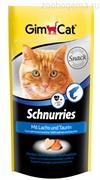 Gimcat Витаминизированные «сердечки» с таурином и лососем с ТГОС для кошек «Schnurries»