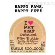Pet Head Масло для потрескавшихся лап с маслами ши, овсянки, жожоба, кокоса, оливок и алоэ вера, OATMEAL Natural Paw Butter