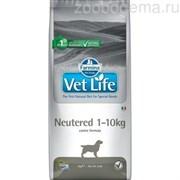 VET LIFE NATURAL DIET DOG NEUTERED 1-10kg 10 KG