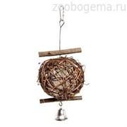 Karlie Игрушка для птиц мяч из прутьев д.5 см с колокольчиком