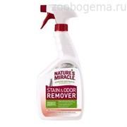 Nature's Miracle Универсальный уничтожитель пятен и запахов Дыня для кошек, спрей, 946мл NM Cat Stain&Odor Remover Spray Mel 32oz