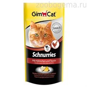 Gimcat Витаминизированные «сердечки» с таурином и курицей с ТГОС для кошек  «Schnurries»