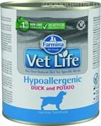 Паштет VET Life Dog Hypo для собак утка с картофелем