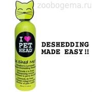 """PET HEAD Клубнично-лимонадный шампунь """"Чудо-линька"""" для линяющих кошек, без сульфатов и парабенов"""