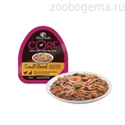 CORE SMALL BREED консервы для собак мелких пород курица с уткой , горошком и морковью 85 г