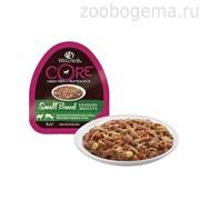 CORE SMALL BREED консервы для собак мелких пород баранина с олениной, белым сладким картофелем и морковью 85 г