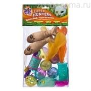 Игрушка д/кошек - Набор игрушек + Удочка - дразнилка, пластик JFC SUPER HUNTERS VAR PK CAT TOYS