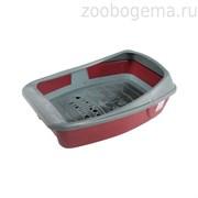СИБИРСКАЯ КОШКА Туалет для кошек ЕВРО глубокий с сеткой и бортиком