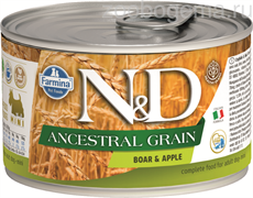 N&D DOG ANCESTRAL GRAIN BOAR & APPLE MINI