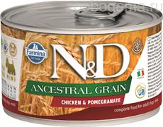 N&D DOG ANCESTRAL GRAIN CHICKEN & POMEGRANATE MINI