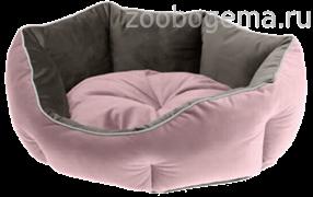 Двухсторонняя софа QUEEN 45 розово-серая (велюр)